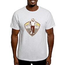 Gold Digger Miner Prospector Shield T-Shirt