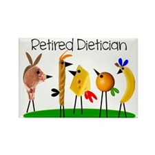 dietician birds 7 retired Rectangle Magnet