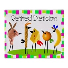 dietician birds 6 Throw Blanket