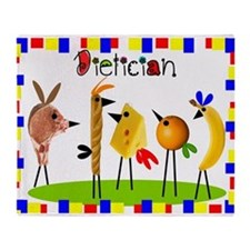 Dietician birds 4 Throw Blanket