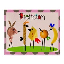 dietician Birds 2 Throw Blanket
