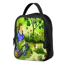 Girl Thinking Neoprene Lunch Bag