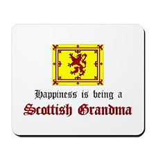 Happy Scottish Grandma Mousepad