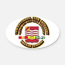 7th Battalion, 15th Artillery Oval Car Magnet