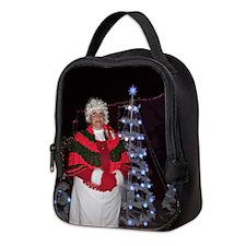 Christmas Mrs Santa Neoprene Lunch Bag