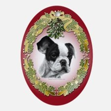 French Bulldog Christmas Oval Ornament