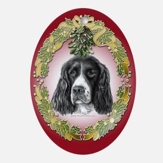 English Springer Christmas Oval Ornament