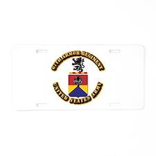 COA - 67th Armor Regiment Aluminum License Plate