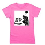 The Thinker Bowling Girl's Tee