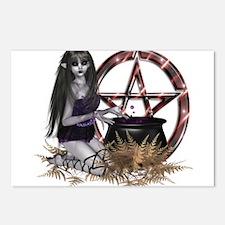 Wiccan Pentacle Postcards (Package of 8)