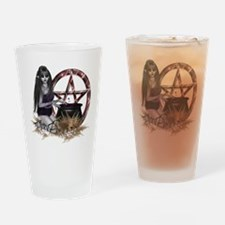 Wiccan Pentacle Drinking Glass