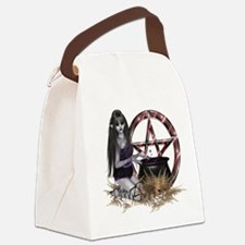 Wiccan Pentacle Canvas Lunch Bag