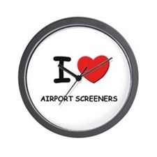 I love airport screeners Wall Clock