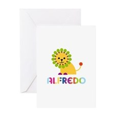 Alfredo Loves Lions Greeting Card