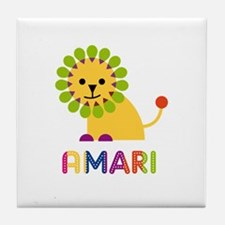 Amari Loves Lions Tile Coaster