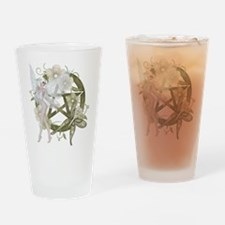 Beautiful fairy with pentacle Drinking Glass