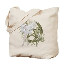 Beautiful fairy with pentacle Tote Bag