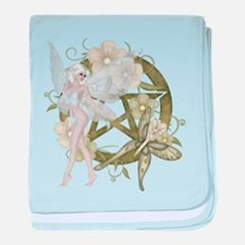 Beautiful fairy with pentacle baby blanket