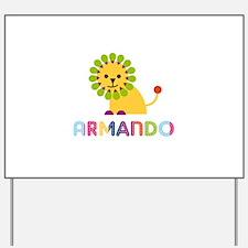 Armando Loves Lions Yard Sign