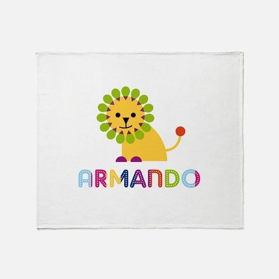 Armando Loves Lions Throw Blanket
