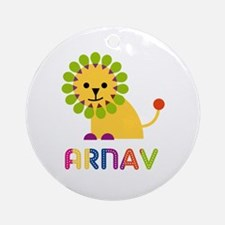 Arnav Loves Lions Ornament (Round)