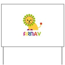 Arnav Loves Lions Yard Sign