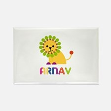 Arnav Loves Lions Rectangle Magnet