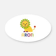 Aron Loves Lions Oval Car Magnet