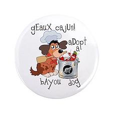 """Geaux Cajun 3.5"""" Button"""