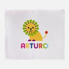 Arturo Loves Lions Throw Blanket