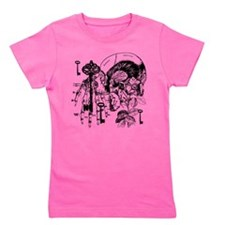 Skull And Key Collage Girl's Tee
