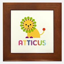 Atticus Loves Lions Framed Tile