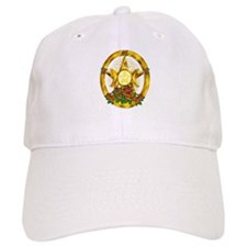 Gold Pentacle with Roses Baseball Cap