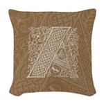 Celtic Letter A Woven Throw Pillow
