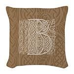 Celtic Letter B Woven Throw Pillow