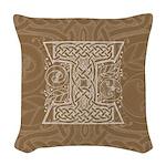 Celtic Letter I Woven Throw Pillow