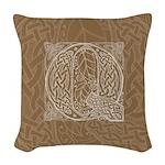 Celtic Letter Q Woven Throw Pillow