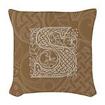 Celtic Letter S Woven Throw Pillow