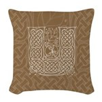 Celtic Letter U Woven Throw Pillow