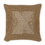 Celtic Letter X Woven Throw Pillow