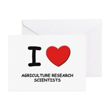 I love agriculture research scientists Greeting Ca