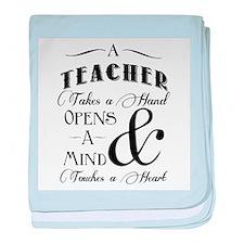 Teachers open minds baby blanket