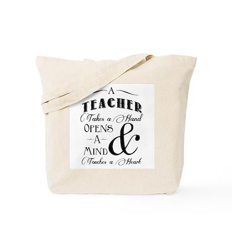 Teachers open minds Tote Bag