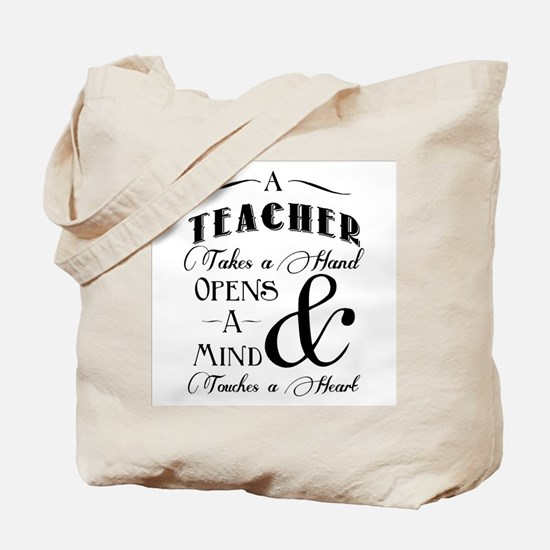 Teachers open minds Tote Bag