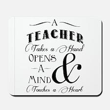 Teachers open minds Mousepad