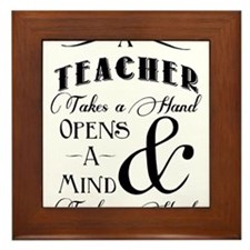 Teachers open minds Framed Tile