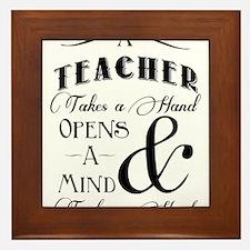 Teachers open minds Framed Tile