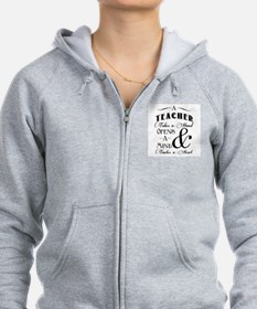 Teachers open minds Zip Hoodie