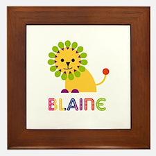 Blaine Loves Lions Framed Tile