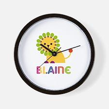 Blaine Loves Lions Wall Clock